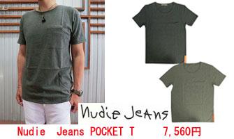 Nudie Jeans(ヌーディージーンズ) POCKET TEE