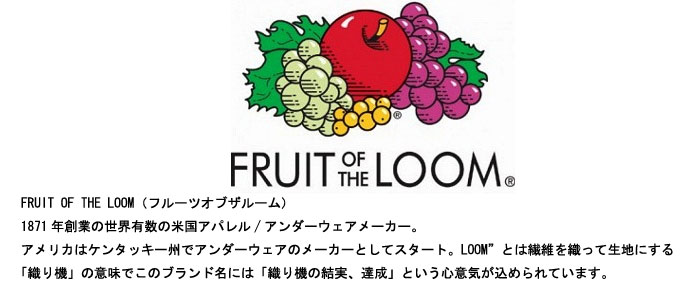 FRUIT OF THE LOOM �ե롼�ĥ��֥��롼��