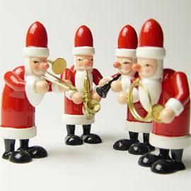 クリスマスプレゼント サンタの音楽隊 オーナメント