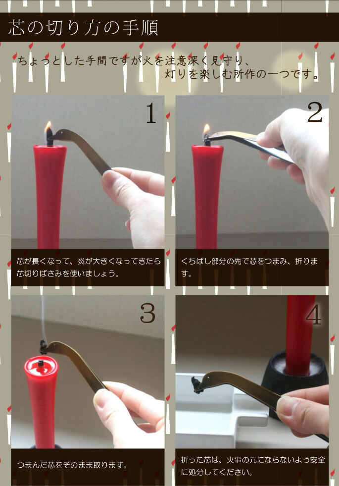 芯の切り方の手順