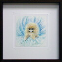 "Hiromori y. ""Puppy"" mixed media art print"