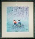 Kaida wind doyusha wind Sakura lithograph (lithography painting)