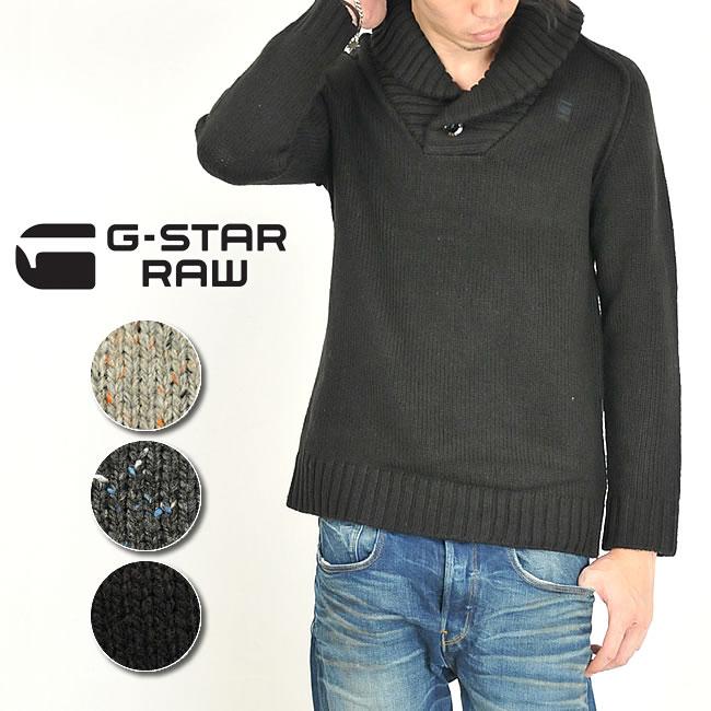 メンズ,G-STAR,ジースター,ニットプルオーバー,長袖,ショールニット,通販