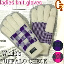 Write a review courier! Cheap womens knit gloves thinsulate Buffalo check gingham check white fs2gm
