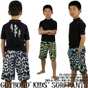 Child swimsuit GUY BOND Checker pattern, blue, green and purple boy seawater pants fs2gm