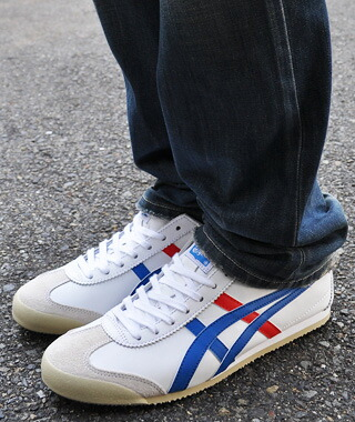 asics mexico 66 white blue