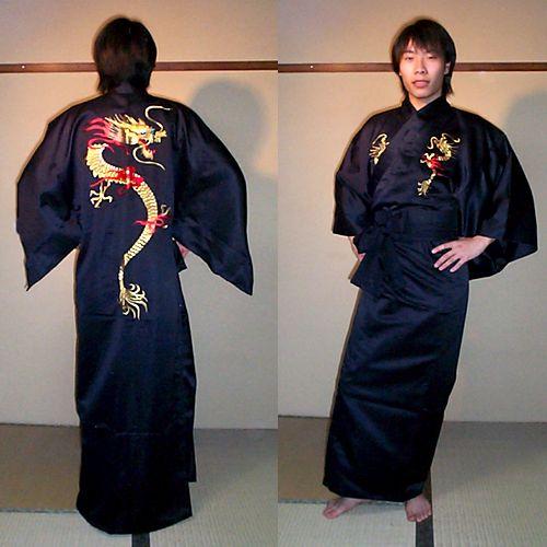 ドラゴン刺繍の着物