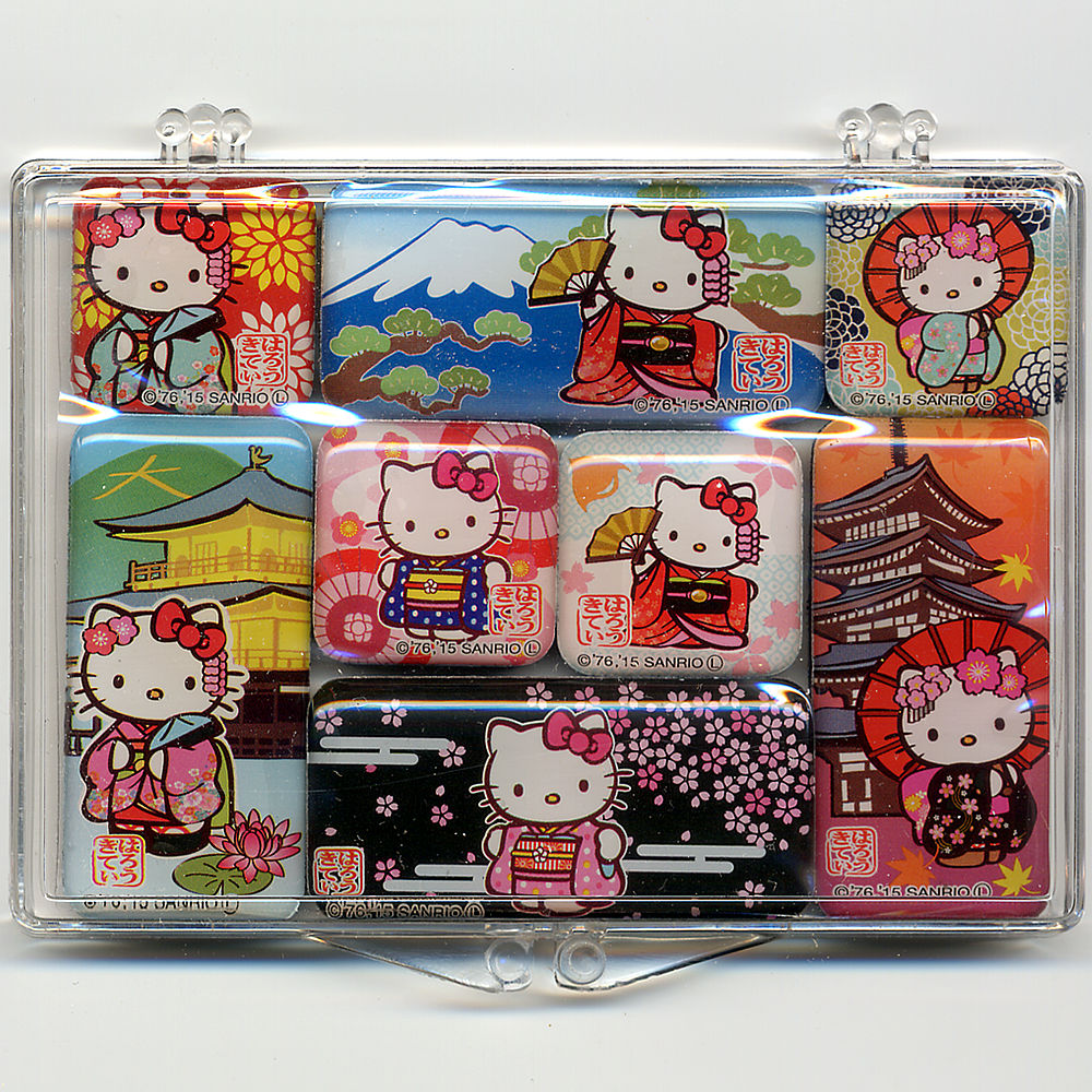 キティちゃん日本マグネット 8個セット