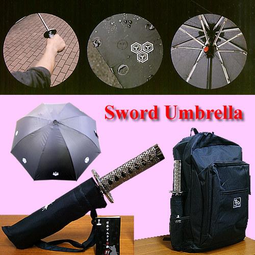 刀型傘(日本刀の形をした傘)折り畳み式刀傘