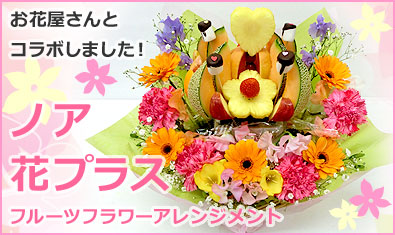 ハッピーカラフルーツ ノア 花プラス フルーツフラワーアレンジメント フルーツのブーケ