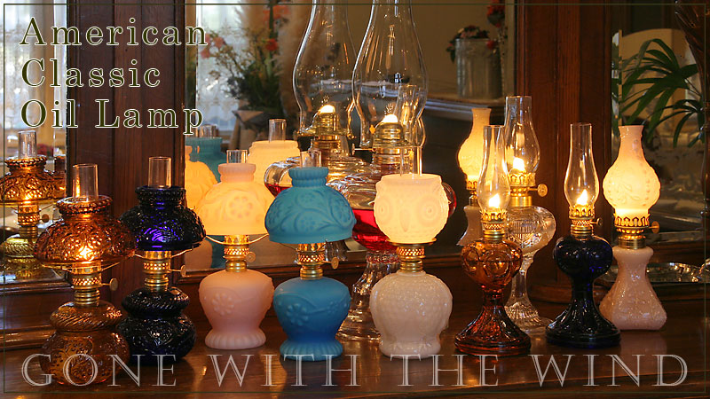 the gone with the wind oil lamp