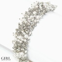 Plenty of glamorous volume are invited, such as Pearl & rhinestone bracelet wedding party ♪ necklace blessed breath pearl Pearl necklace bracelet party party party formal