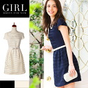 Party dress ☆ wedding dress BIANCA shadow border fit & ab06221 invited dress party daily one-piece party parties 3 mail-order outfits clothes invited clothes dress party dress medium dress flare with belt