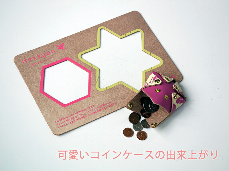 HEXAGON エコトコ レザー コインケース-4
