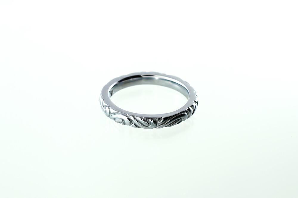 サージカルステンレス ダイヤモンド アラベスクペアリング-2