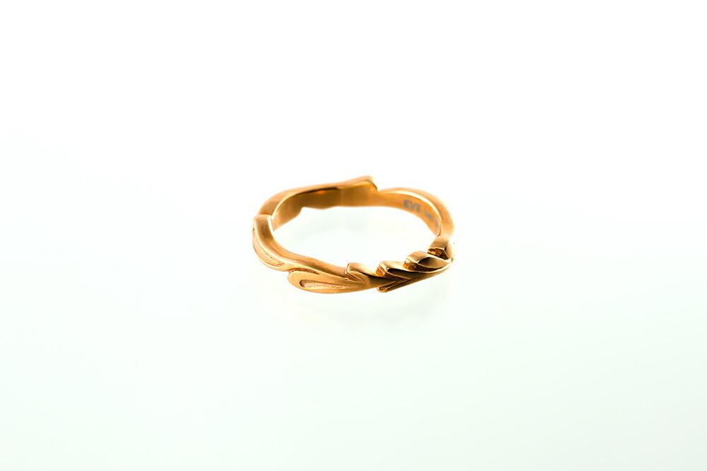 サージカルステンレスダイヤモンド アラベスク ペアリング-3