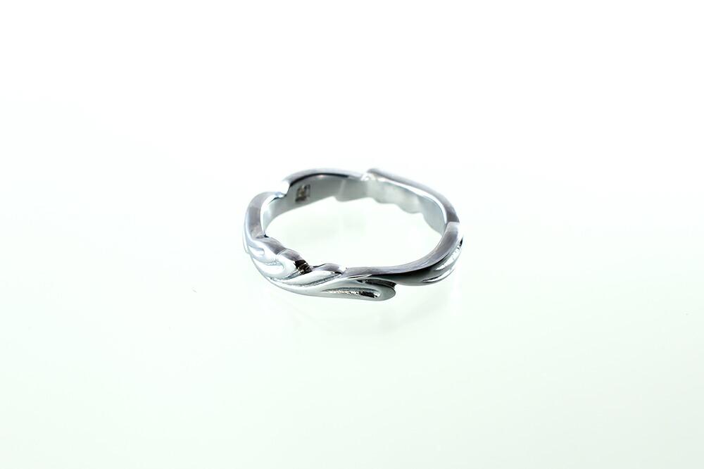 サージカルステンレスダイヤモンド アラベスク ペアリング-2
