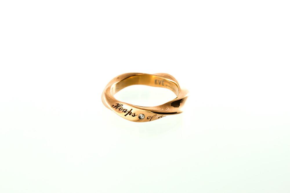 サージカルステンレスダイヤモンド メッセージペアリング-3