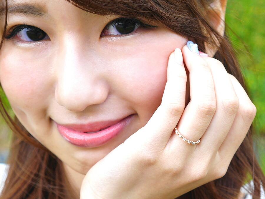 ピンキーリング☆5ストーンリング-4