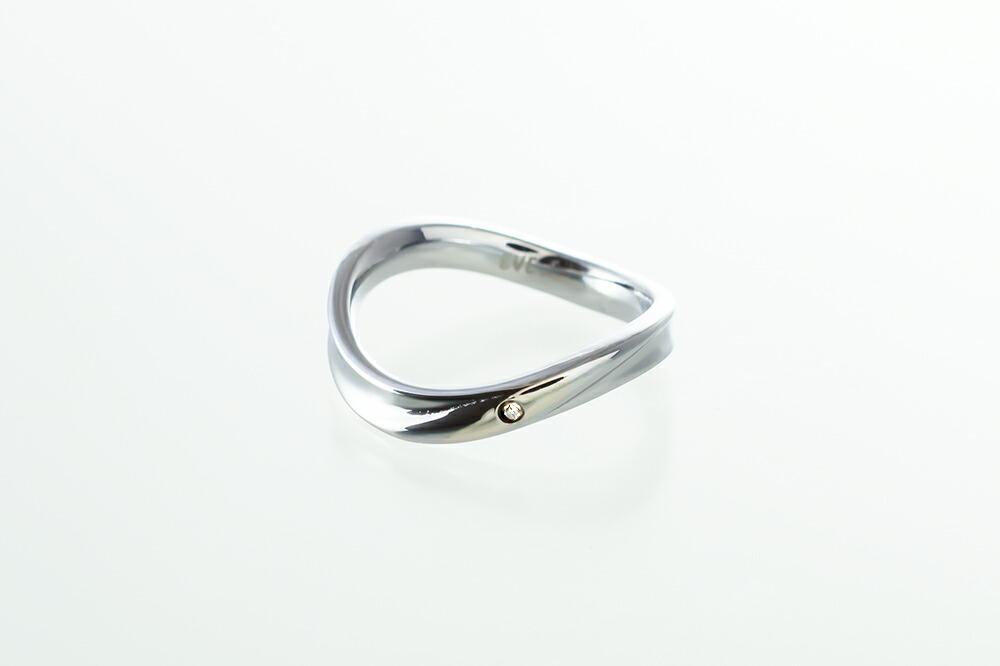 サージカルステンレス ダイヤモンド エレガントリング-5