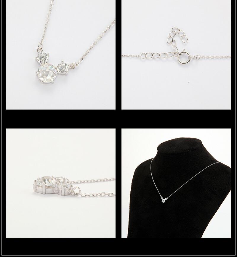 『天然ダイヤモンドローズ×2.3CTマウスモチーフネックレス』-5