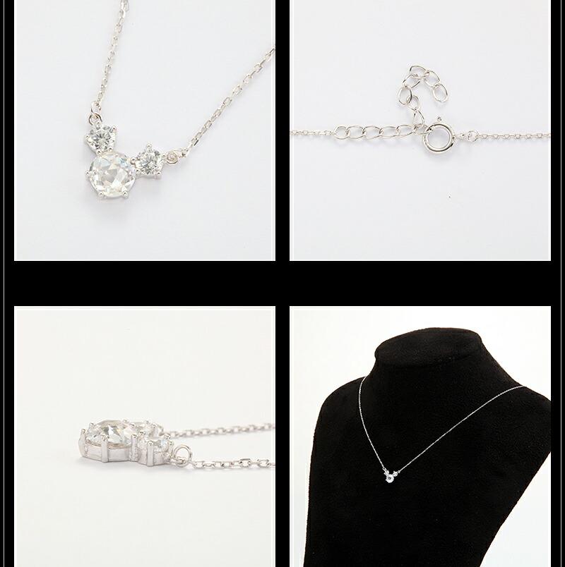 『天然ダイヤモンドローズ×2.3CTマウスモチーフネックレス・ピアスセット』-5