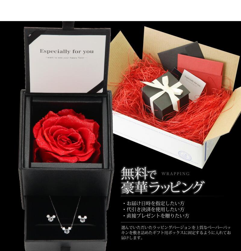 『天然ダイヤモンドローズ×2.3CTマウスモチーフネックレス・ピアスセット』-8