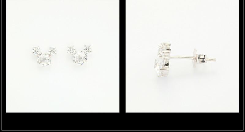 『天然ダイヤモンドローズ×2.3CTマウスモチーフピアス』-5