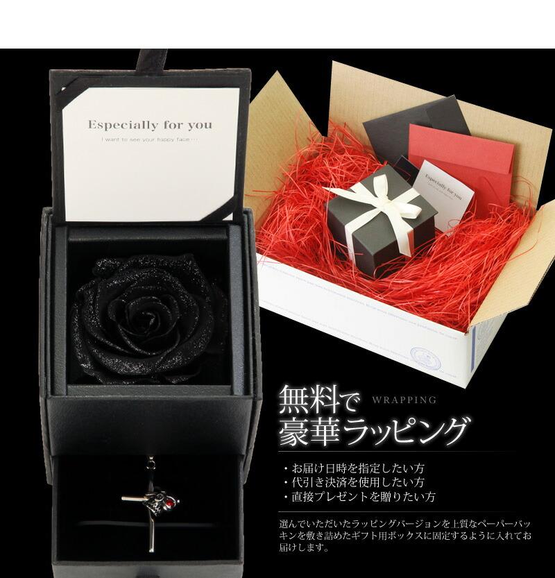 『天然ダイヤモンドローズ×サージカルステンレス スカル柄 クロスネックレスセット』-9