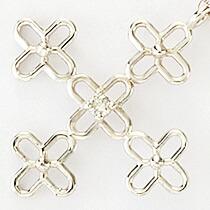 『天然ダイヤモンド0.01ct フラワークロス10金ネックレス』-7