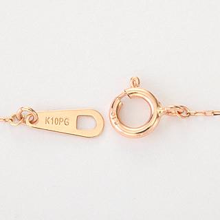 『天然ダイヤモンド0.01ct フェミニンフラワーモチーフ10金ネックレス』-6
