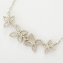 『天然ダイヤモンド0.01ct フェミニンフラワーモチーフ10金ネックレス』-10
