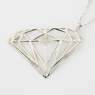 『天然ダイヤモンド0.01ct ダイヤモンドモチーフ10金ネックレス』-2