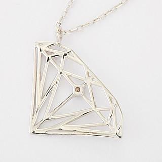 『天然ダイヤモンド0.01ct ダイヤモンドモチーフ10金ネックレス』-3