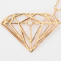 『天然ダイヤモンド0.01ct ダイヤモンドモチーフ10金ネックレス』-6