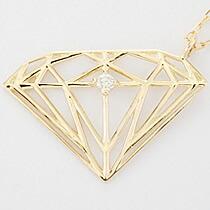 『天然ダイヤモンド0.01ct ダイヤモンドモチーフ10金ネックレス』-8