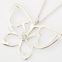 『天然ダイヤモンド0.01ct バタフライモチーフ10金ネックレス』-7