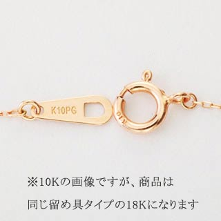 『天然ダイヤモンド0.1ct 18金ネックレス』-5