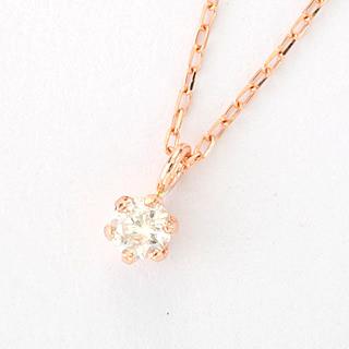 『天然ダイヤモンド0.1ct 10金ネックレス』-2