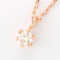 『天然ダイヤモンド0.1ct 10金ネックレス』-6