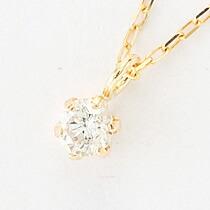 『天然ダイヤモンド0.1ct 10金ネックレス』-8