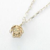 0.1カラット シャンパンブラウンダイヤモンド 一粒ネックレス-9