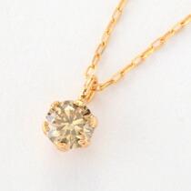0.1カラット シャンパンブラウンダイヤモンド 一粒ネックレス-10