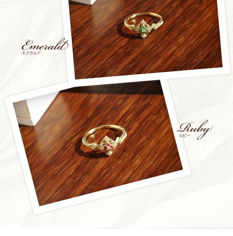 ダイヤモンド0.05カラット ゴールドリング-3