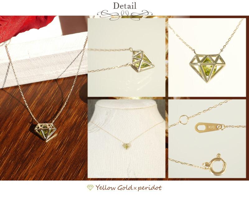 ダイヤモンドモチーフ10金ネックレス-2