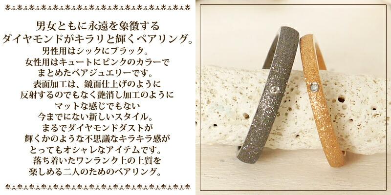 【サージカルステンレス ダイヤモンド EVEペアリング】-2