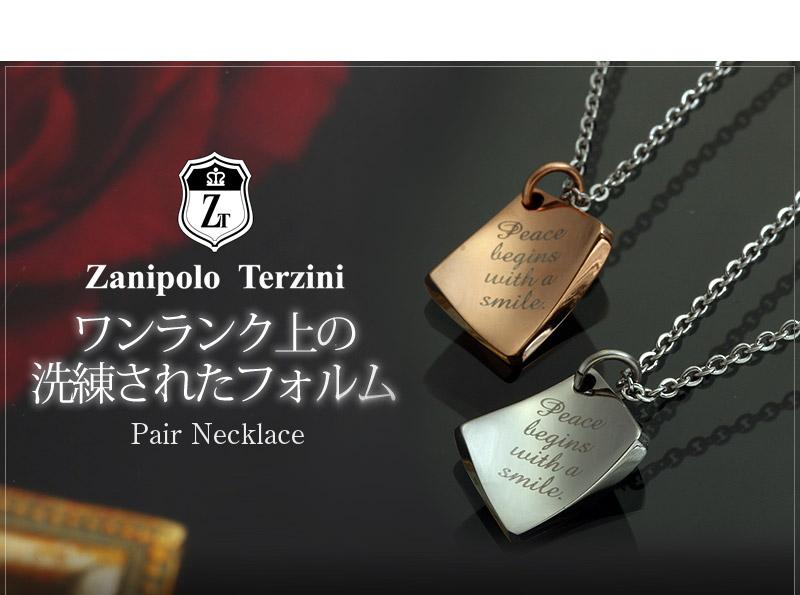 Zanipolo Terzini『天然ダイヤモンドローズ×レターペアネックレス』-3
