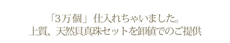 『天然貝核パールネックレス・パールピアス or イヤリング セット』-1