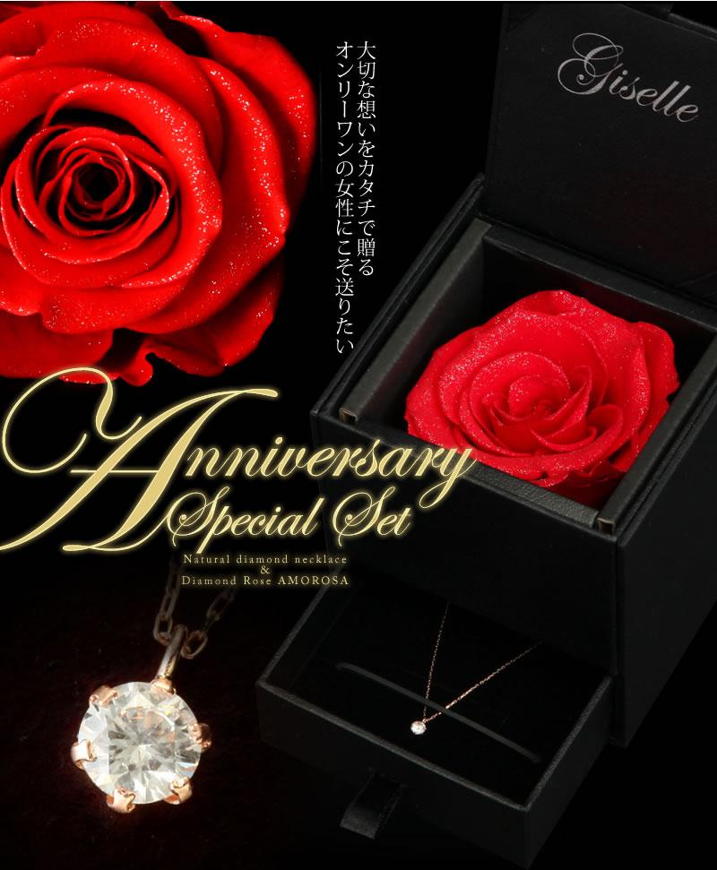 天然ダイヤモンド0.2ct 10金ピンクゴールドネックレス-2