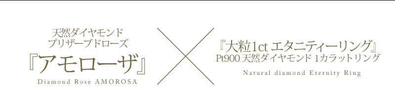 ローズベルシア×天然ダイヤモンド1ct PT900エタニティリング-11